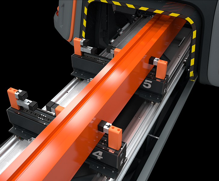 TKE 954 Clamps and dynamic double operation Tekna